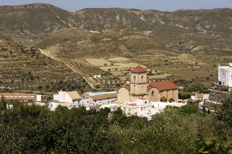 Village de Lucainena de las Torres photo libre de droits