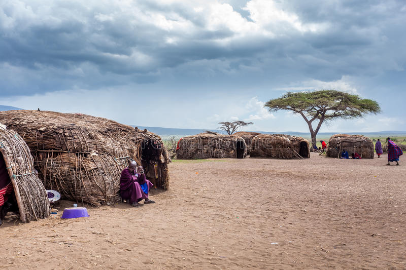 Village de Maasai image stock