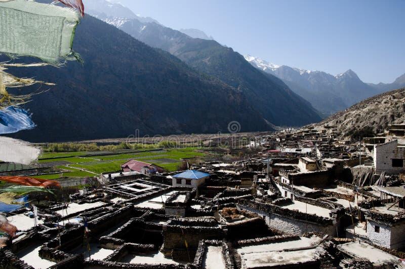 Village de Marpha - Népal photographie stock