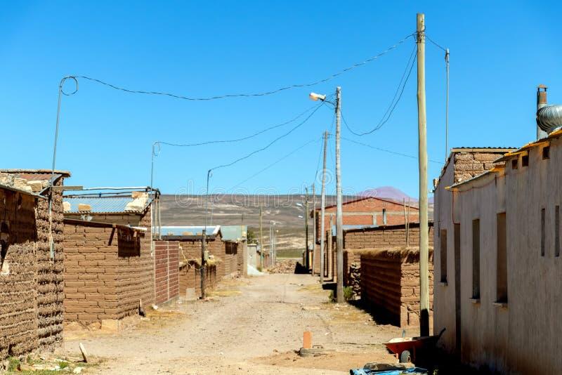 Village de mineurs de sel en Bolivie, Amérique du Sud image stock