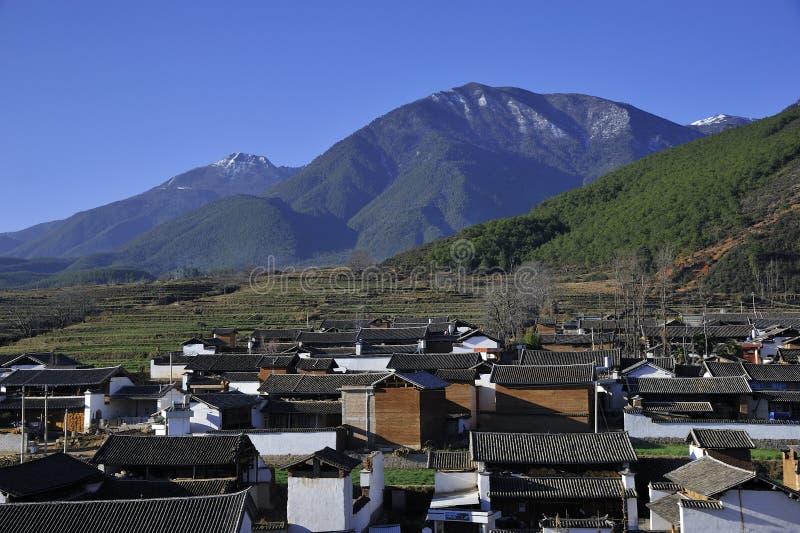 Village de minorité de Bai photo stock