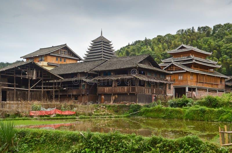 Village de minorité de Chengyang image stock