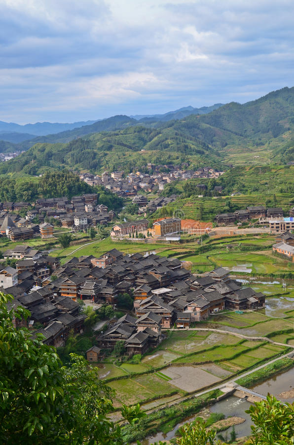 Village de minorité de Chengyang photographie stock