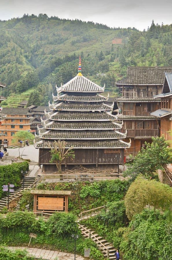 Village de minorité de Chengyang photographie stock libre de droits