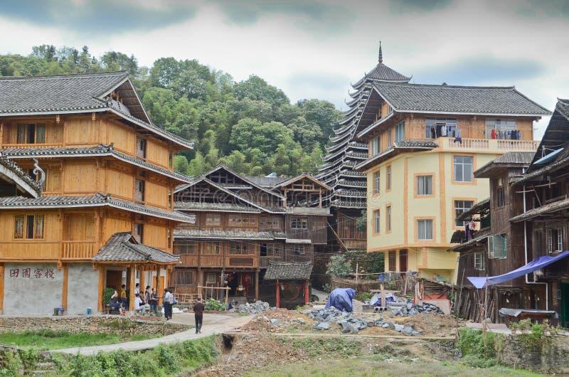 Village de minorité de Chengyang image libre de droits