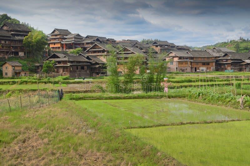 Village de minorité de Chengyang photo libre de droits