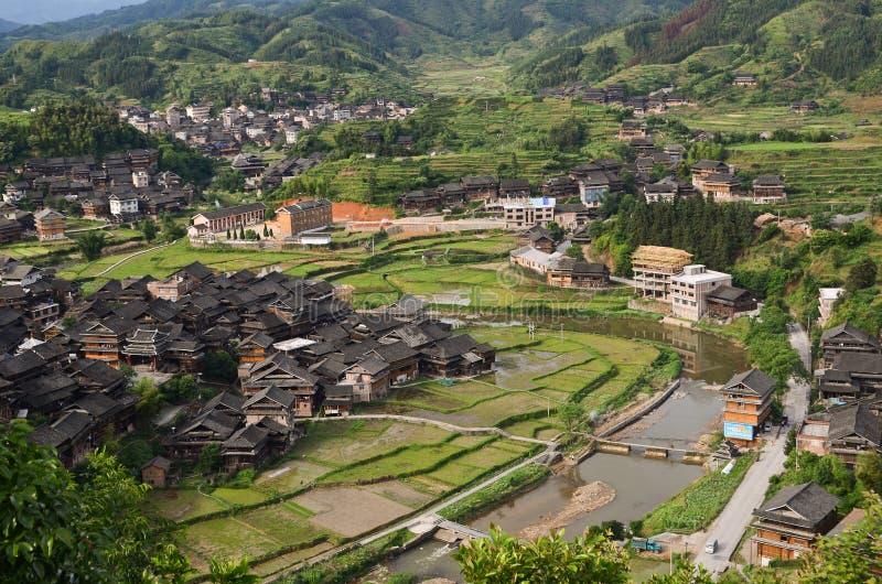 Village de minorité de Chengyang images stock