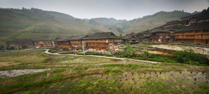 Village de minorité de Dazhai image libre de droits