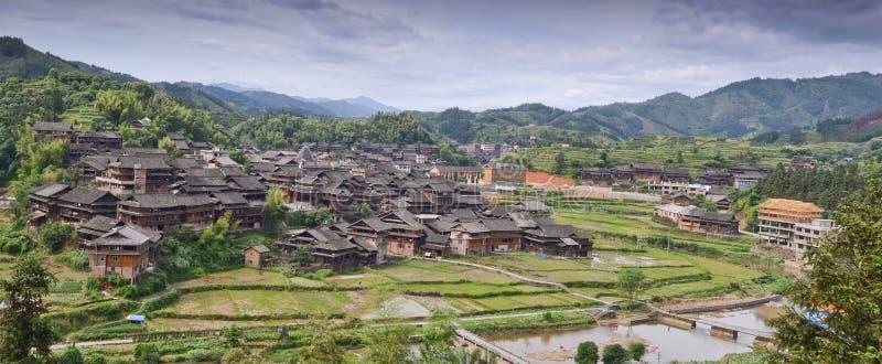 Village de minorité en Chine image stock
