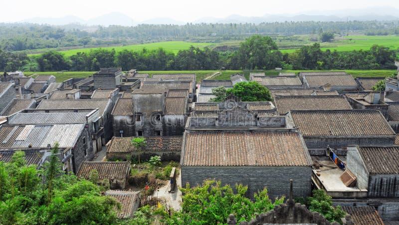Village de minorité ethnique dans la province de Guangxi, Chine photo stock