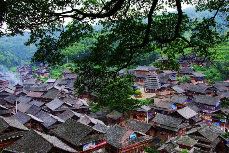 Village de minorité, porcelaine photos libres de droits