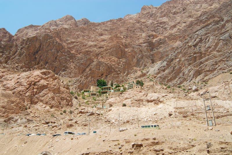 Village de montagne de Chak Chak près de Yazd, Iran image stock