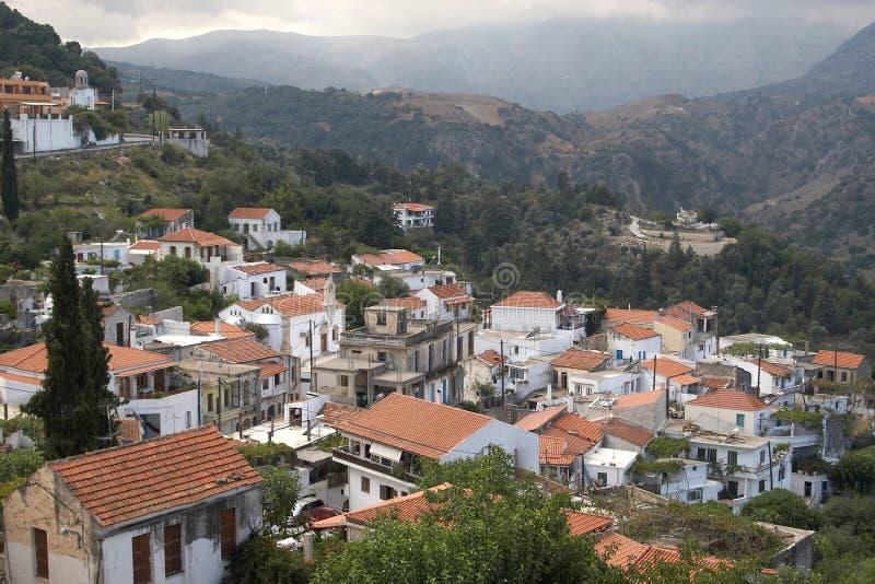Village de montagne, Crète, Grèce images stock