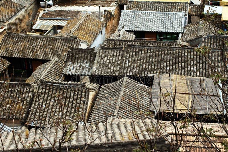 Village de montagne de chinois traditionnel images libres de droits