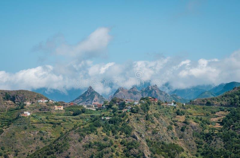 Village de montagne, montagnes d'Anaga, Ténérife, Espagne - images libres de droits