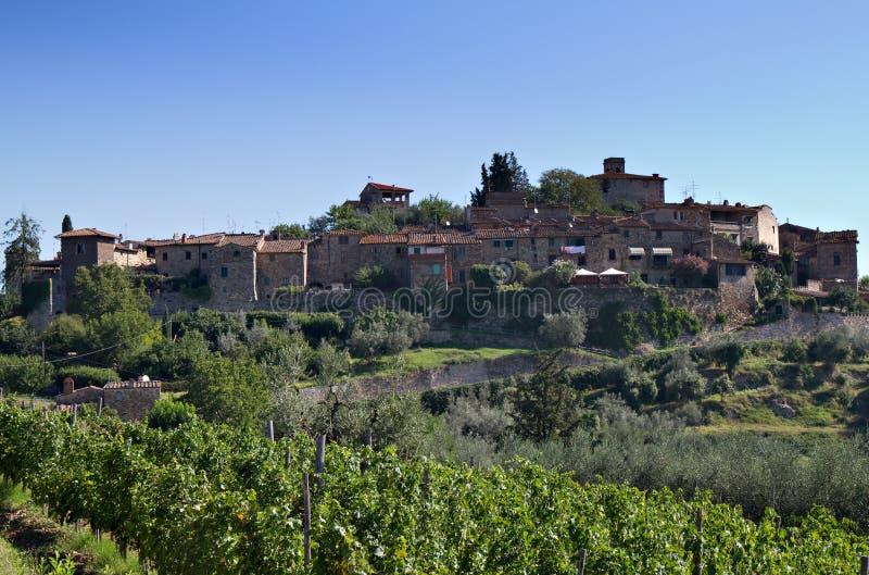 Village de Montefioralle image libre de droits