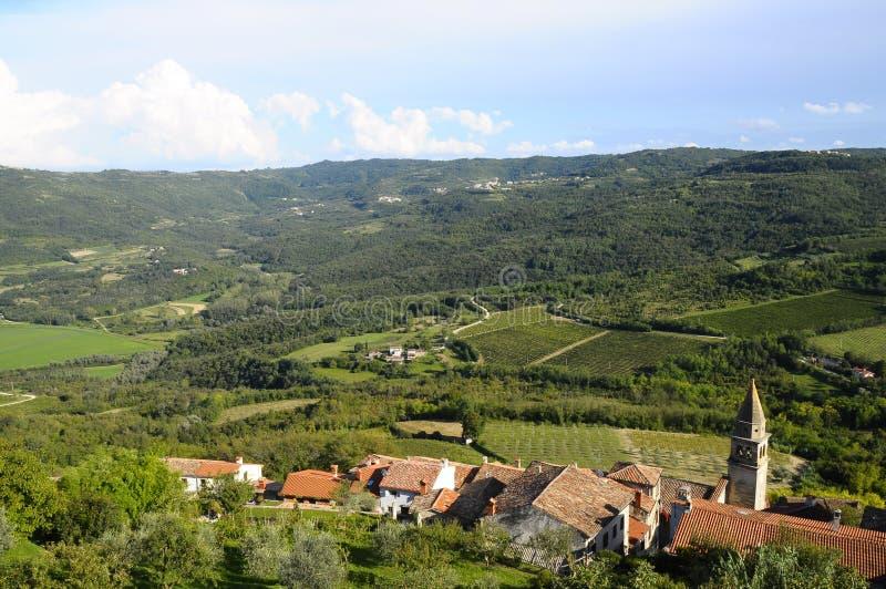 Village de Motovun en Croatie, l'Europe image stock