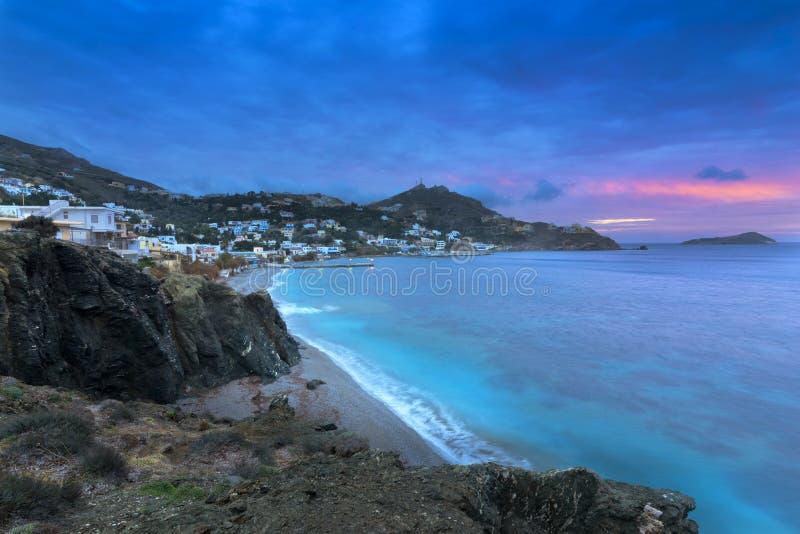 Village de Myrties à l'île de Kalymnos, Grèce photo stock