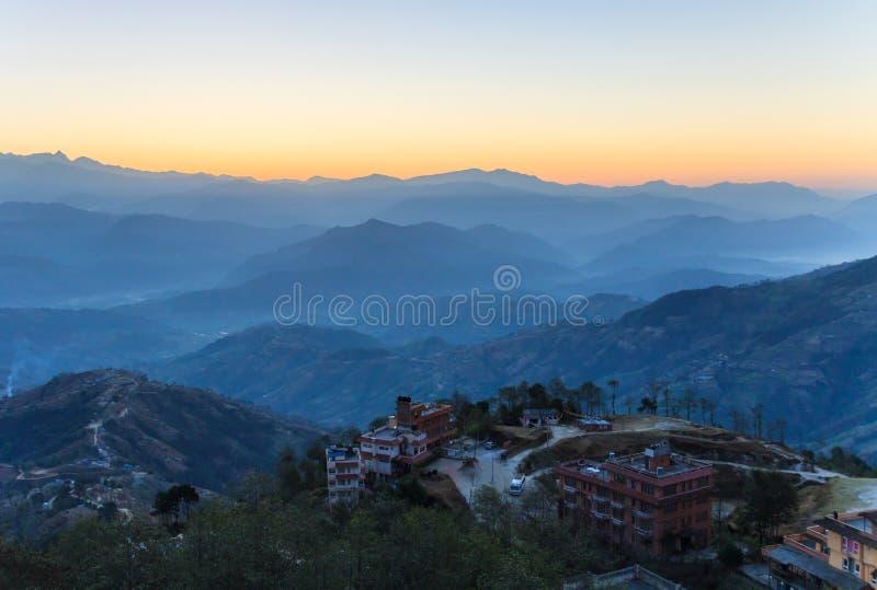 Village de Nagakot, Népal photo libre de droits