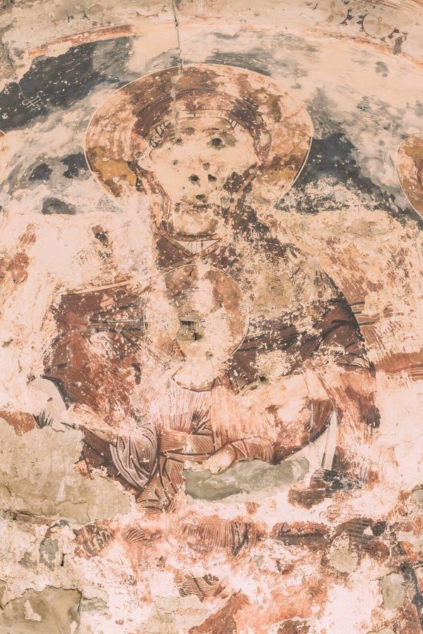 Village de Ninotsminda, région de Kakheti, la Géorgie Fresques antiques I images libres de droits