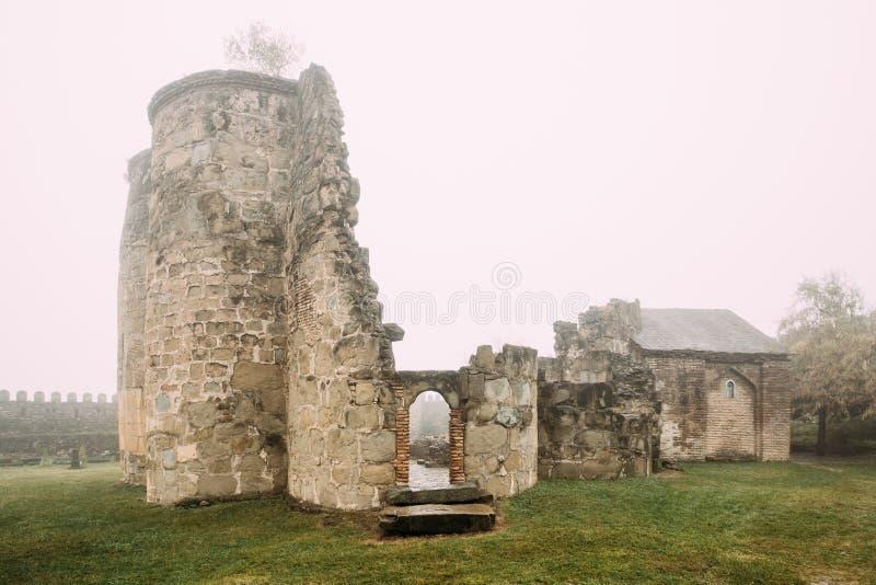 Village de Ninotsminda, région de Kakheti, la Géorgie Ruines de vieille église photo libre de droits