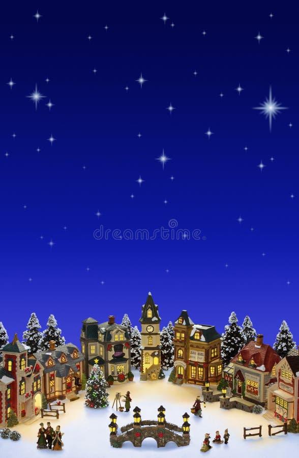 Village de Noël image libre de droits