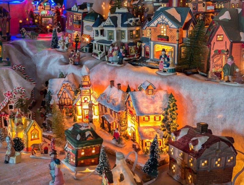 Village de Noël images libres de droits