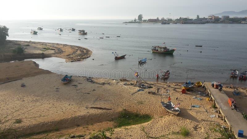 Village de pêche de Dungun Malaisie images libres de droits