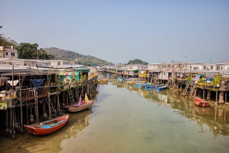 Village de pêche de Tai O, Hong Kong images libres de droits