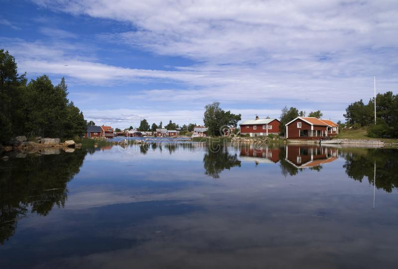 Village de pêche de Kuggorarna photographie stock