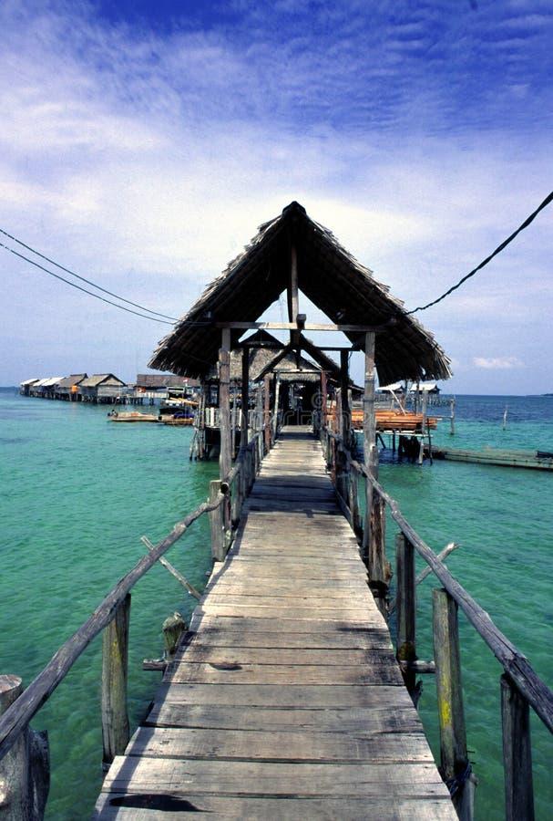 Village de pêche traditionnel image stock