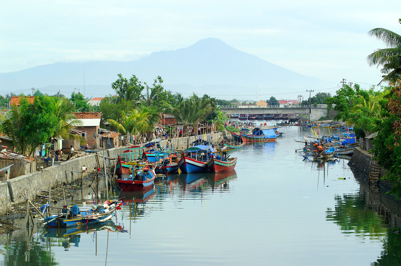 Village de pêcheurs image libre de droits