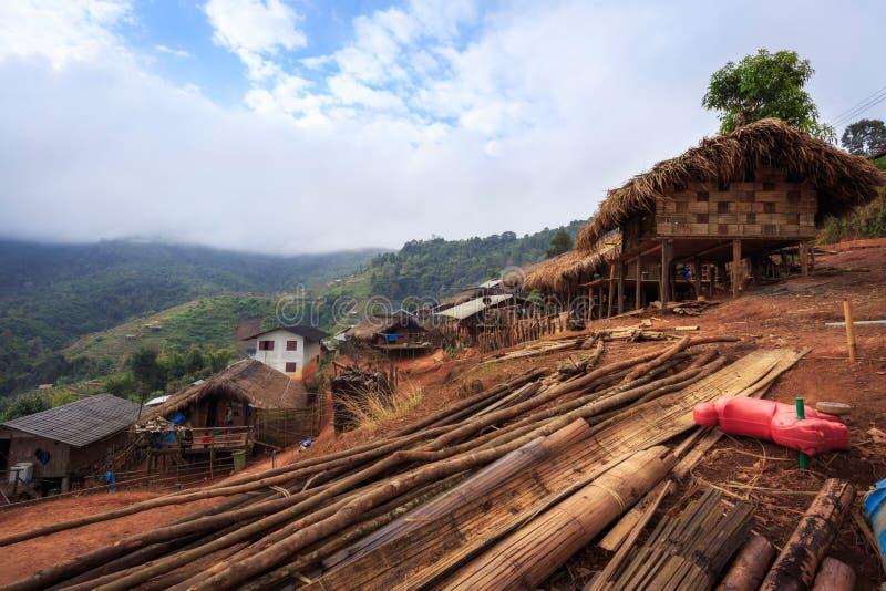 Village de pays en Thaïlande photographie stock