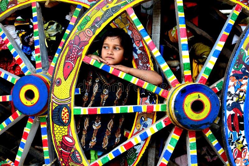 Village de peinture dans l'Inde photographie stock