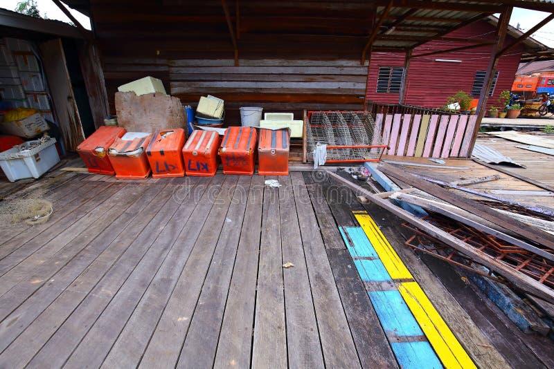 Village de poissons de Sekinchan photos stock