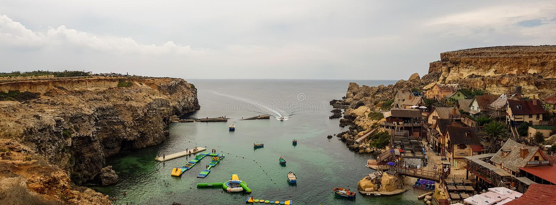 Village de Popeye à Malte photo stock