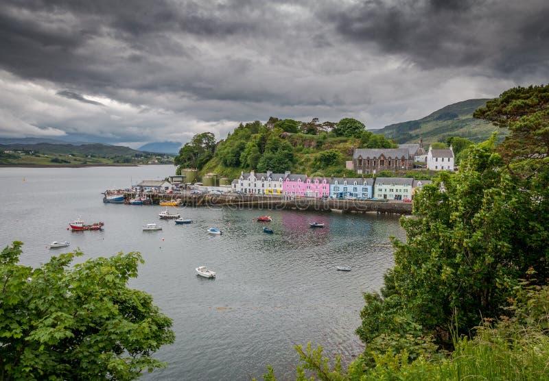 Village de Portree - Ilse de Skye image libre de droits