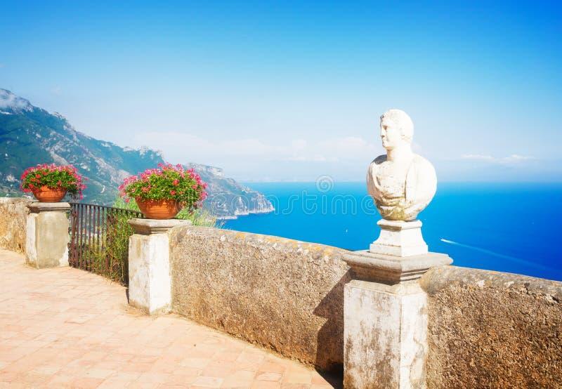 Village de Ravello, côte d'Amalfi de l'Italie image libre de droits