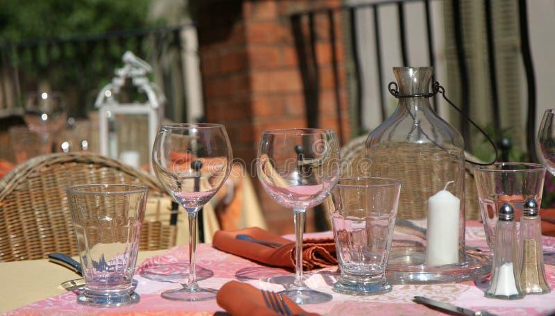Village de restaurant, la Côte d'Azur, France photographie stock libre de droits