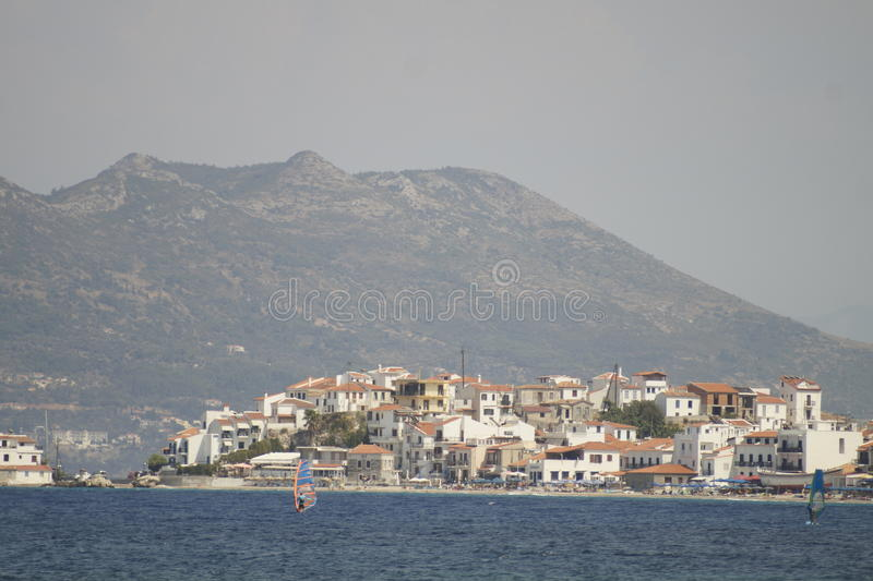 Village de Samos photographie stock