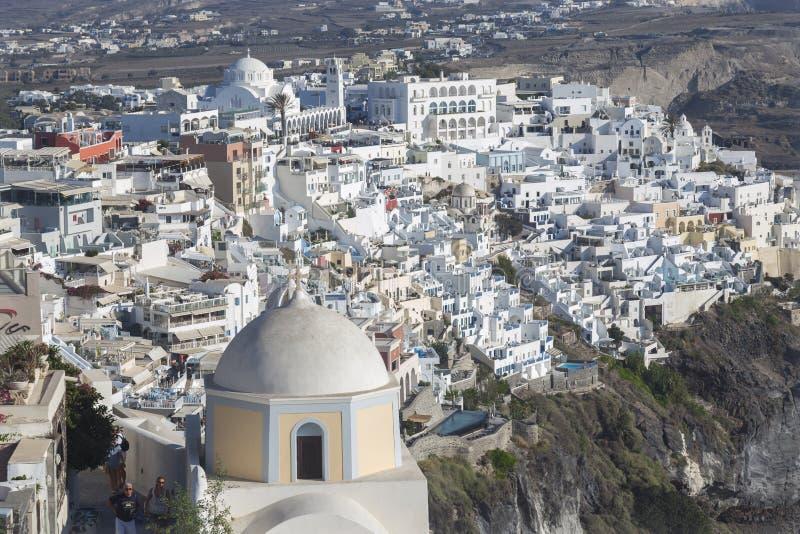 Village de Santorini Fira, Cyclades, mer ?g?e, ?le grecque, Gr?ce photographie stock