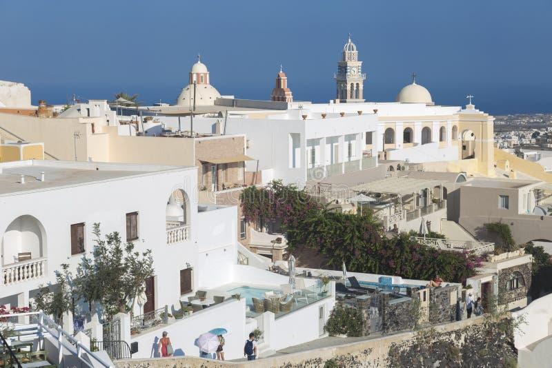 Village de Santorini Fira, Cyclades, mer ?g?e, ?le grecque, Gr?ce photo stock