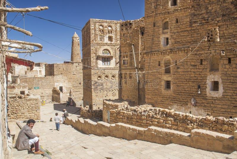 Village de Shibam au Yémen image libre de droits