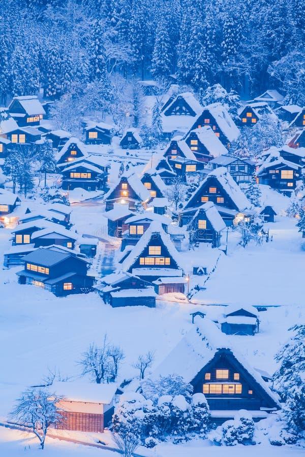 Download Village de Shirakawago image stock. Image du scénique - 87701353