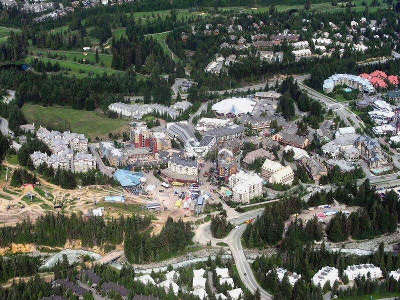 Village de siffleur, Colombie-Britannique, Canada image libre de droits