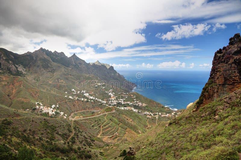 Village de Tenerife - de Taganana images libres de droits