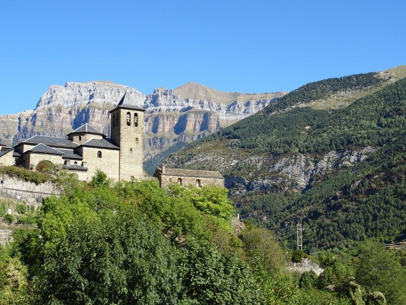 Village de Torla, Pirineos photographie stock libre de droits