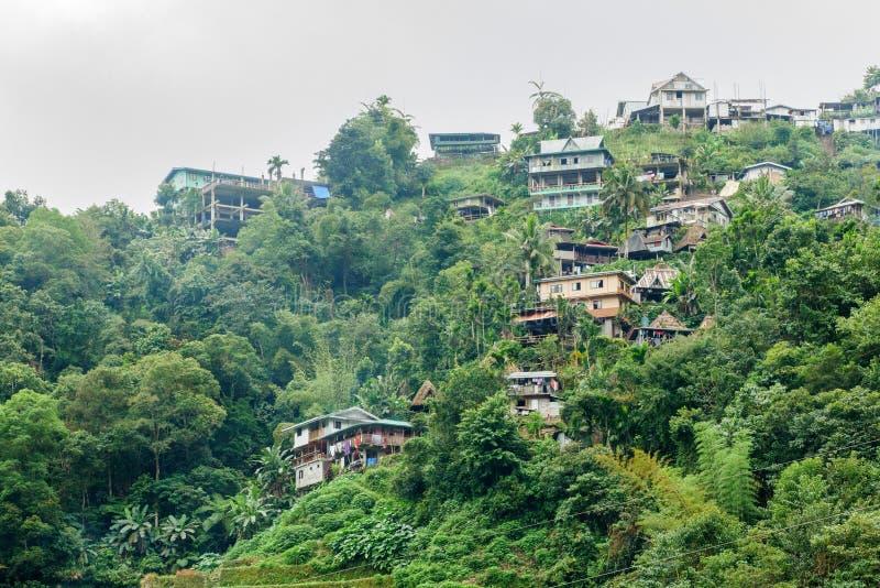 Village de touristes célèbre de Batad de destination de décembre 31,2017 A photos stock