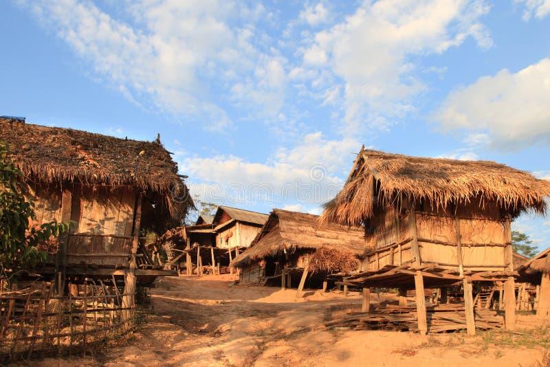 Village de tribu d'Akha (Laos) image libre de droits