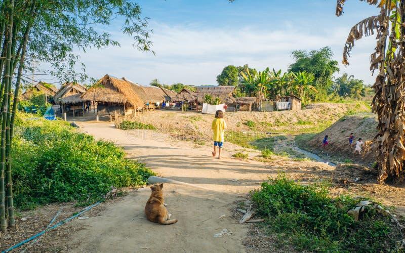 Village de tribu de colline photo libre de droits